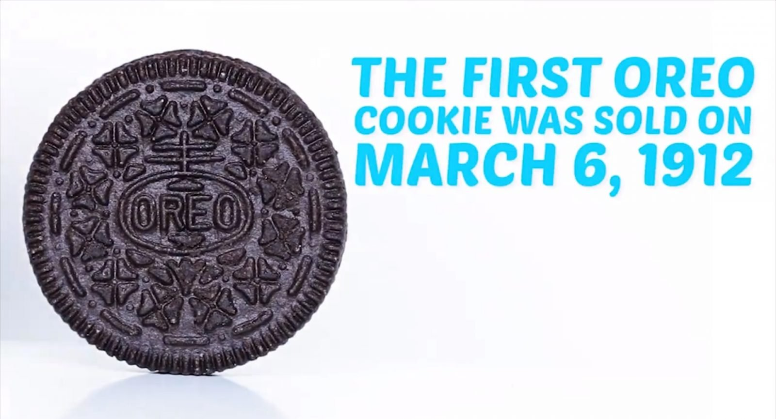 First Oreo Cookie Sold on 1912
