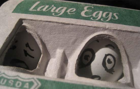 Funny Egg art 16 window