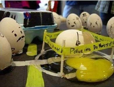 Funny Egg drawings 6 Police line