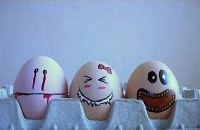 Funny Egg drawings 8 Faces