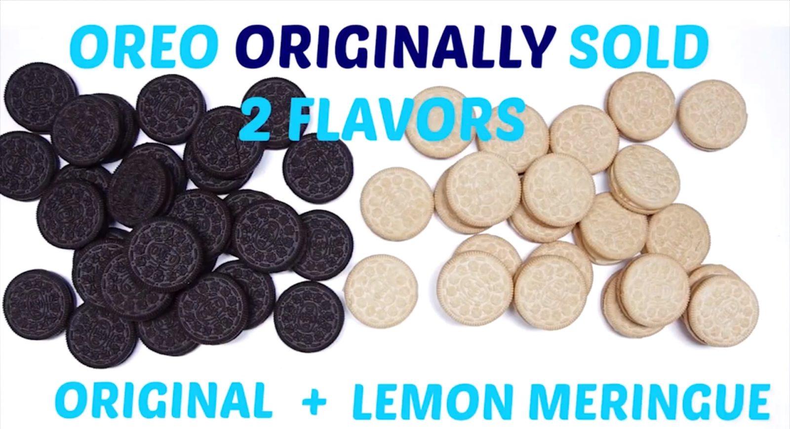 Original Oreos had 2 Flavors