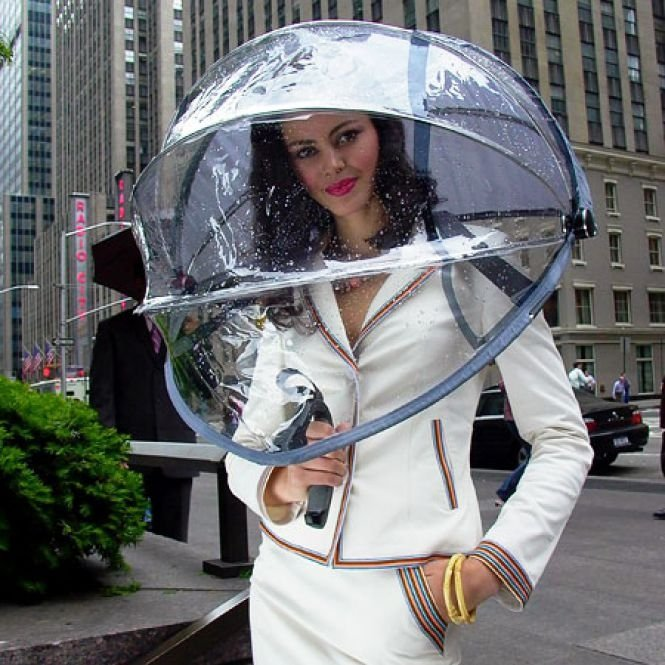 Full Transparent Umbrellas