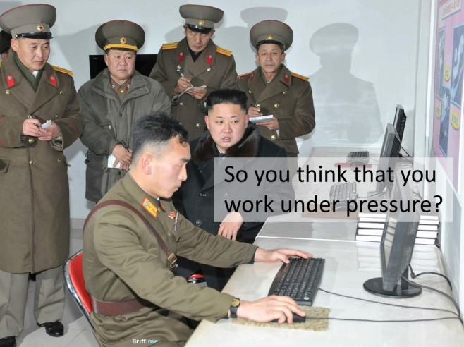 Work Pressure - So you think that you work under pressure?