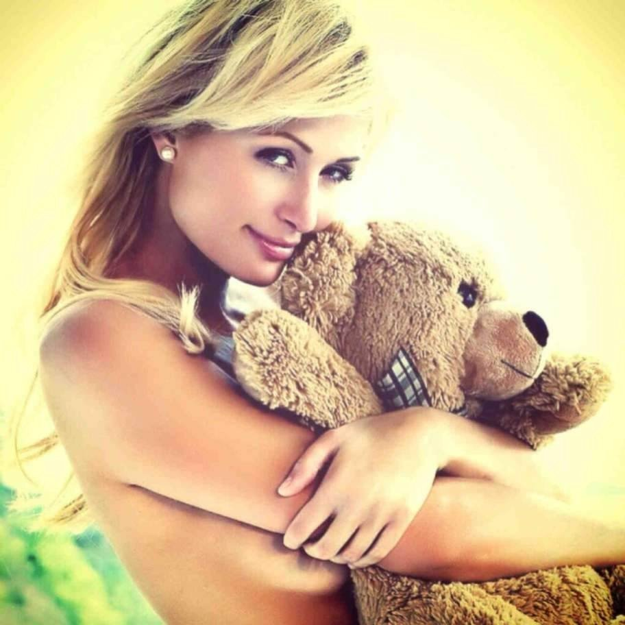 Big Teddy Bear for Valentines Day 12 Topless Paris Hilton