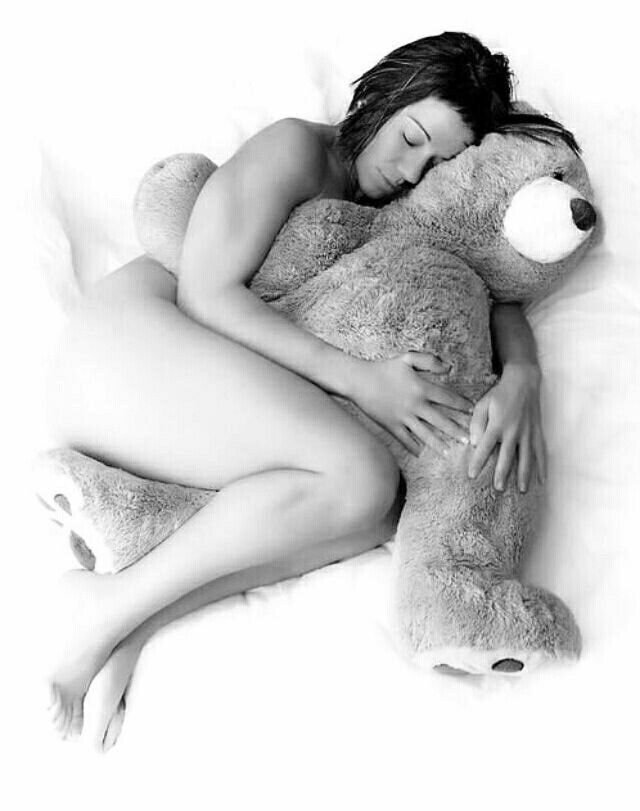 Big Teddy Bear for Valentines Day 13 Sexy Black and White