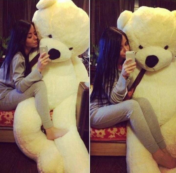 Big Teddy Bear For Valentines Day 3 Selfie Briff Me Social Media
