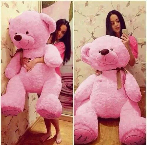 Big Teddy Bear for Valentines Day 9 Pink