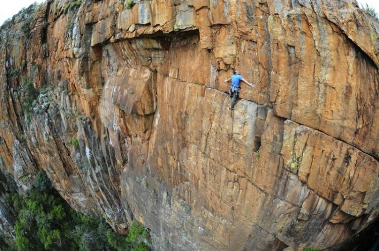 British climber John Roberts in South Africa High Place