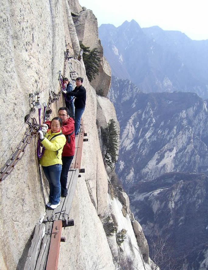 China's mt Huashan Death trail High Place