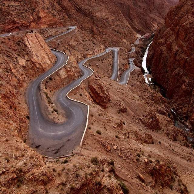 Dades Gorge, Morocco Dangerous roads