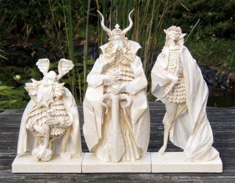 Eric Joisel – Detailed Classic Monster Figures Paper Art
