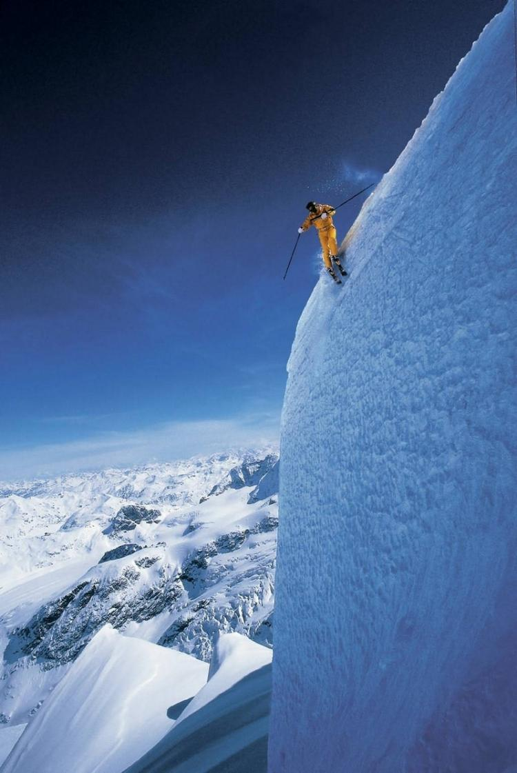 Extreme skiing at Grand Targhee, Wyoming High Place