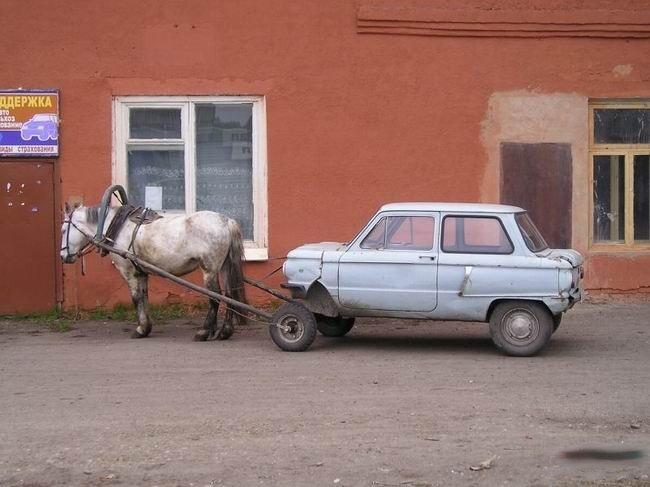 Horse Power Car 2 - Horse Pulling Half Car