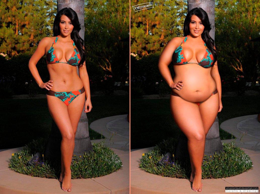 Kim Kardashian Fat Celebrities