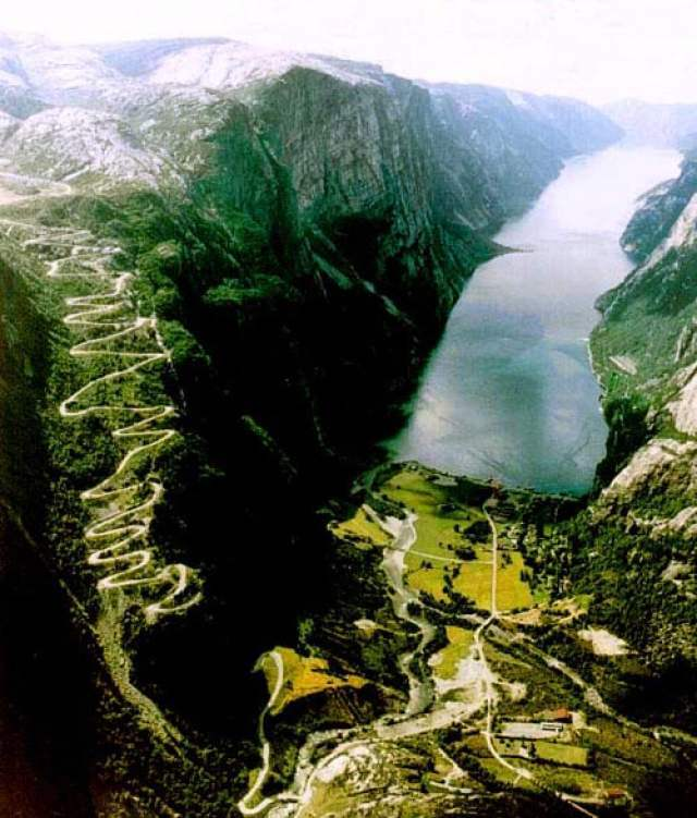 Lysebotn Road, Norway Dangerous roads