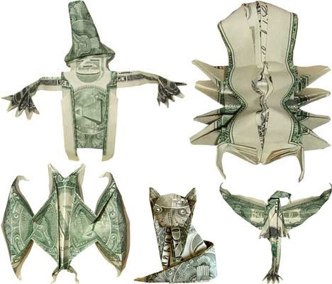 Mark Sky – Magically Transformed Paper Money Paper Art