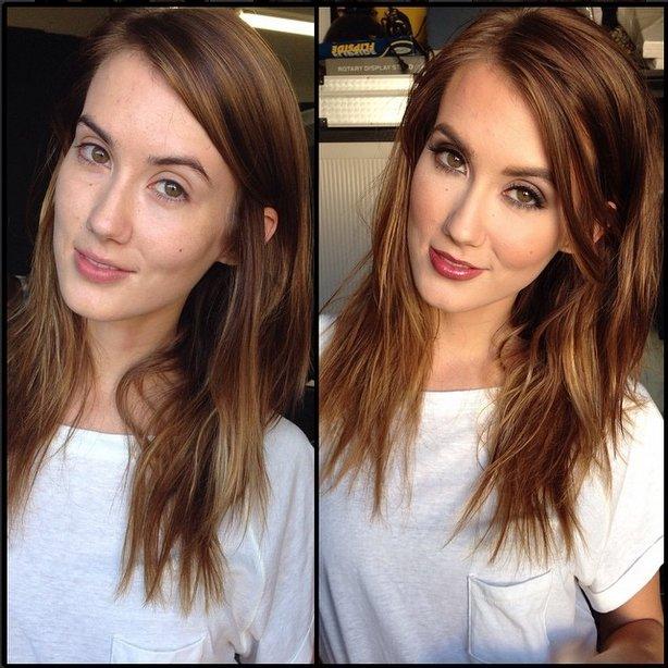 Megan rain no makeup