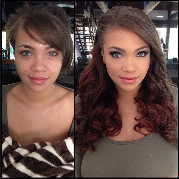 models without makeup 14 before and after photos