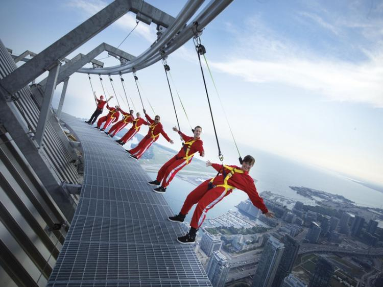 On the Edgewalk in Toronto High Place
