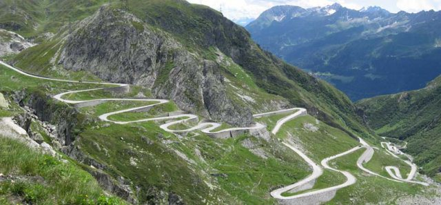 Saint Gothard Pass, Switzerland Dangerous roads