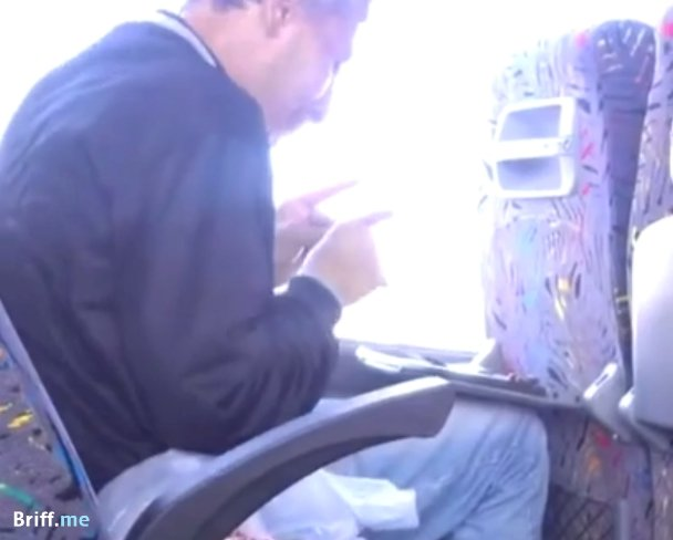 Sniffing Cocaine on a bus