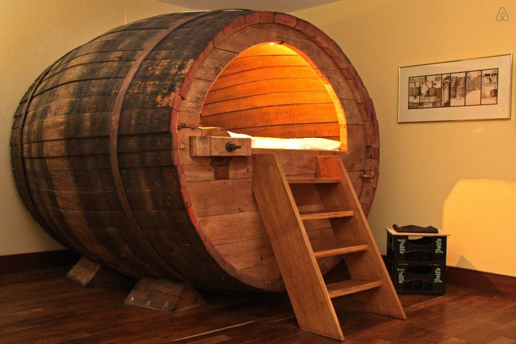 Stay the Night in a Beer Barrel Funny AirBNB