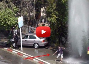 Street Dance under a broken fire hydrant