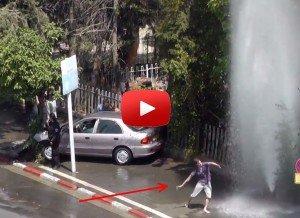Street Dance under a broken fire hydrant