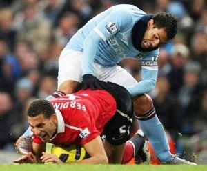 Tevez and Ferdinand Funny Photos