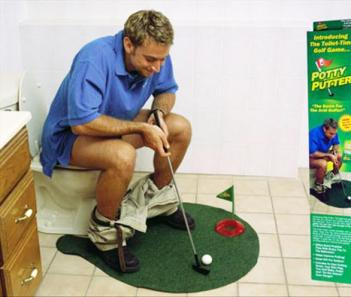 Toilet Putting Green Crazy Gift Ideas