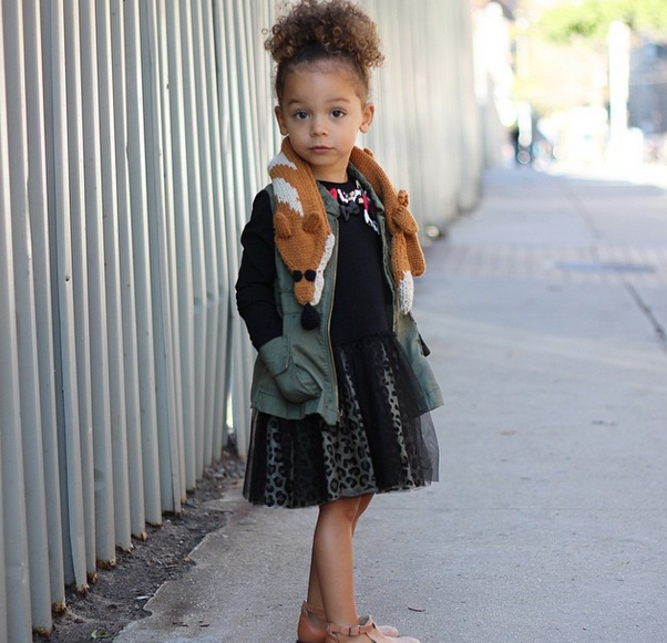 outfit is never complete without a good fox Young Model