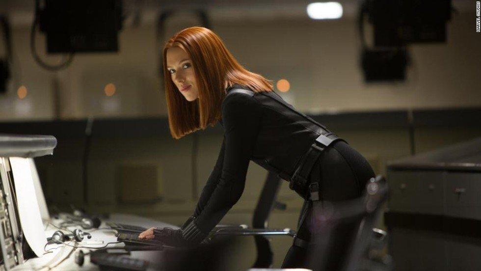 """Black Widow"" Scarlett Johansson in ""The Avengers"" Supergirls"