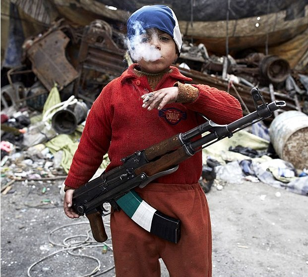 7 YEAR OLD SYRIAN REBEL Human Diversity