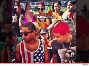Chris Brown's baby - Mama partied with his ex!