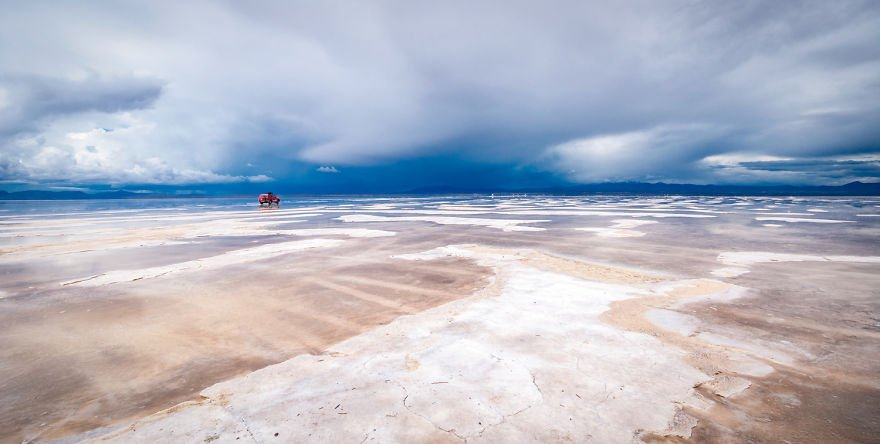 Approaching Storm in the Salar traveling Paradise