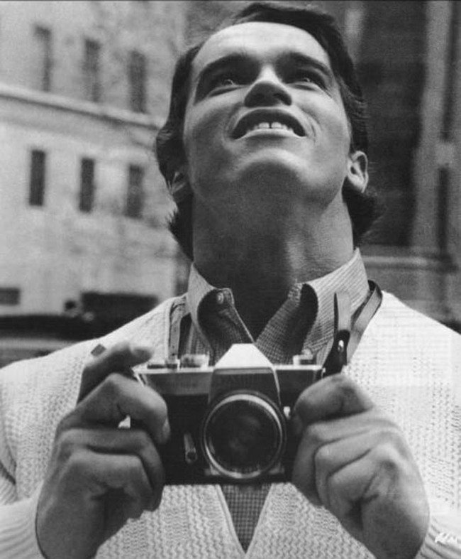 Arnold Schwarzenegger seeing New York City for the first time. [1968] Young Celebrity