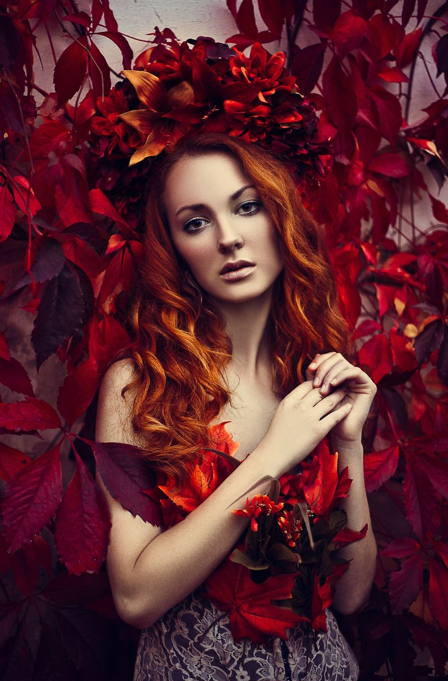 Autumn Agáta Surreal Portraits