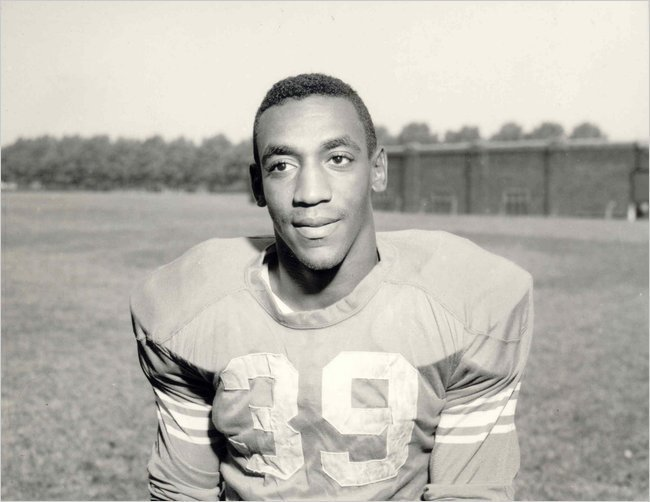 Bill Cosby when he played fullback in college for the Temple Owls. [1961] Young Celebrity