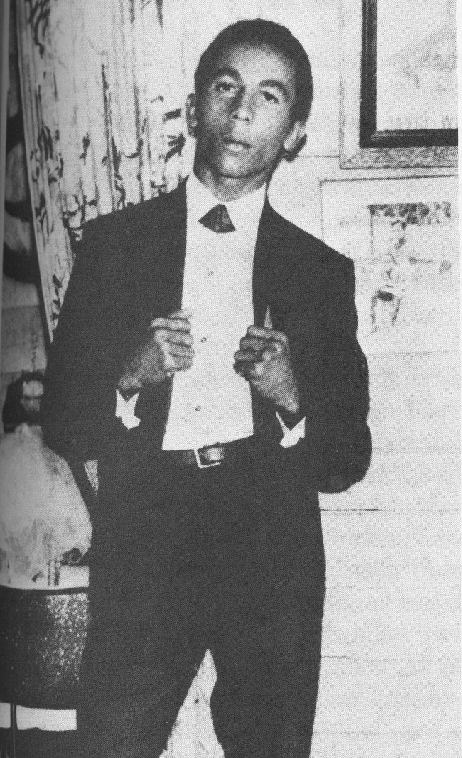 Bob Marley in his first band, the Wailers. [1965] Young Celebrity