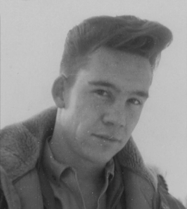 Bob Ross as a Master sergeant in the USAF, before his trademark afro. [c. 1961–1981] Young Celebrity