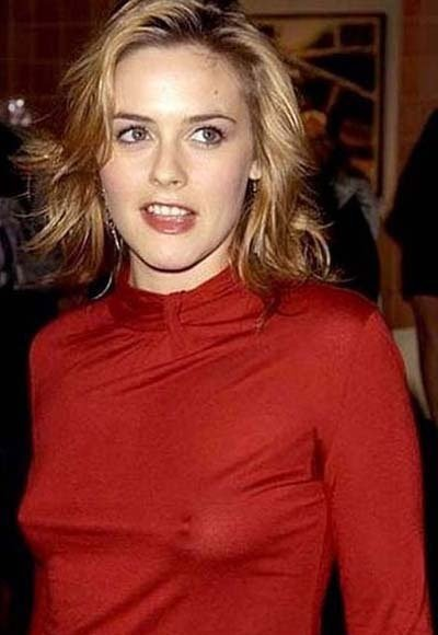 Celebrities with no bra 18 - Alicia Silverstone Braless