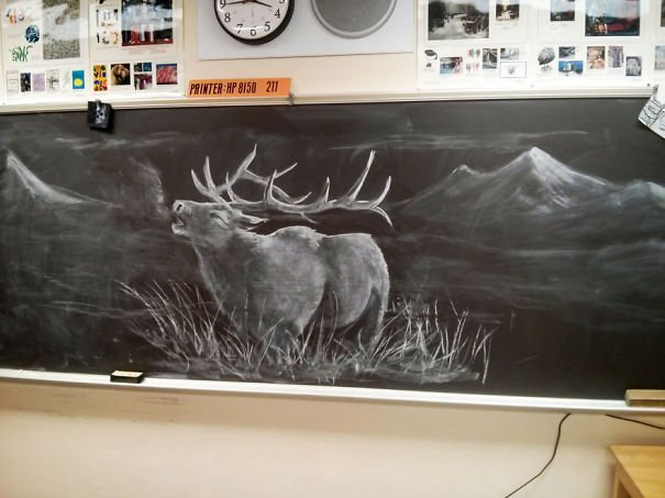 Chalkboard Drawing Awesome Teacher