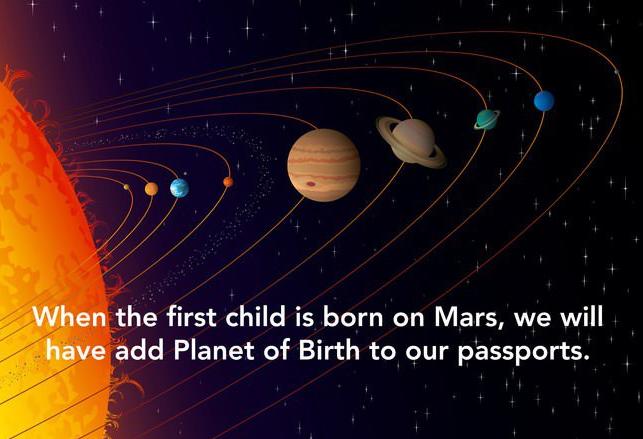 Child born on Mars Smart Idea