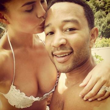 Chrissy Teigen & John Legend Bikini Photos