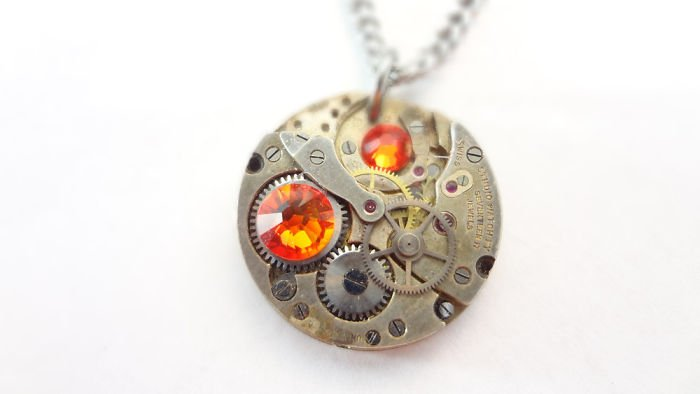Clockwork Orange Necklace Incredible Jewelry