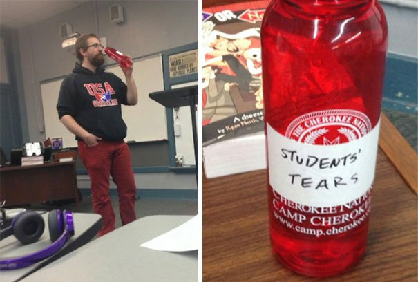Drinking Student's Tears Awesome Teacher