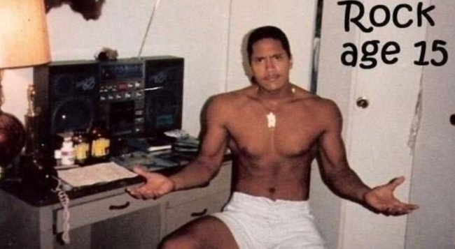 Dwayne Johnson at age 15. [1987] Young Celebrity