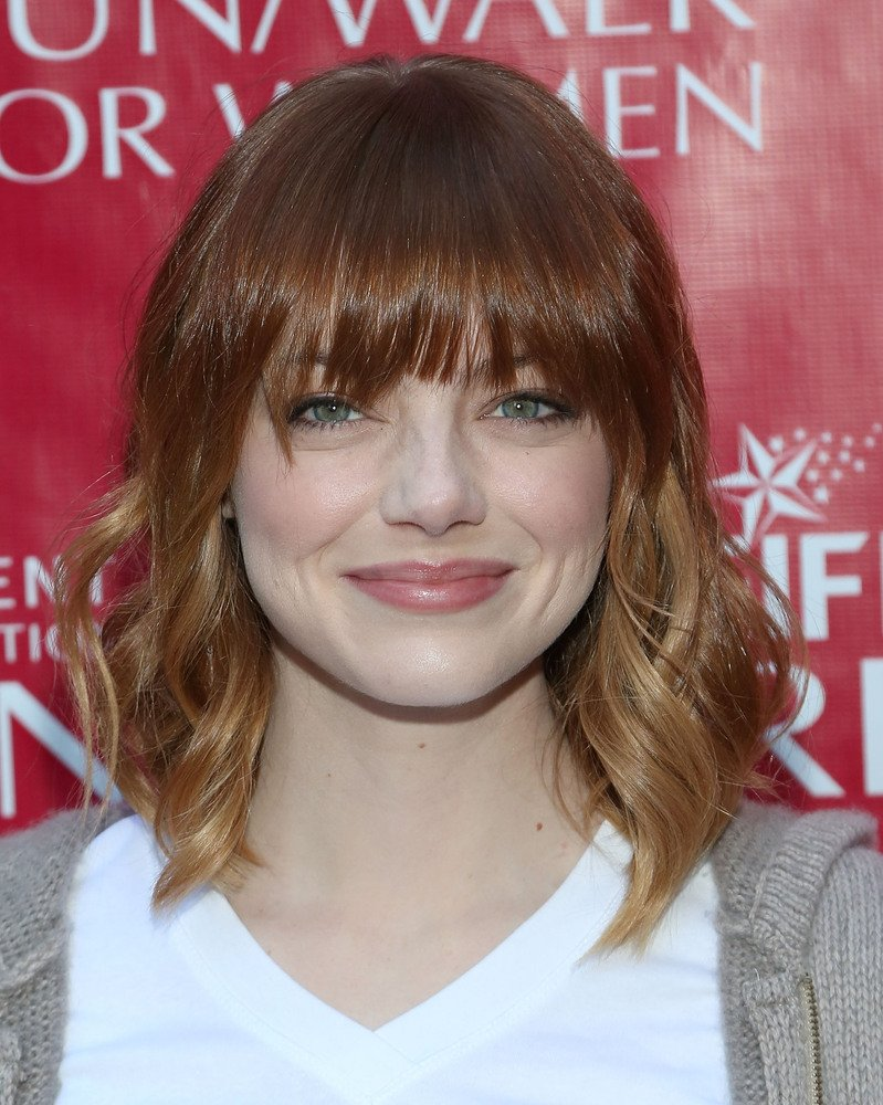 Emma Stone Celebrities Haircut