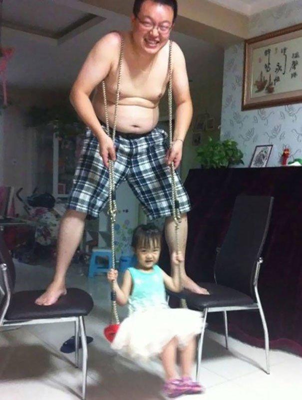 Human Swing Parenting Fails