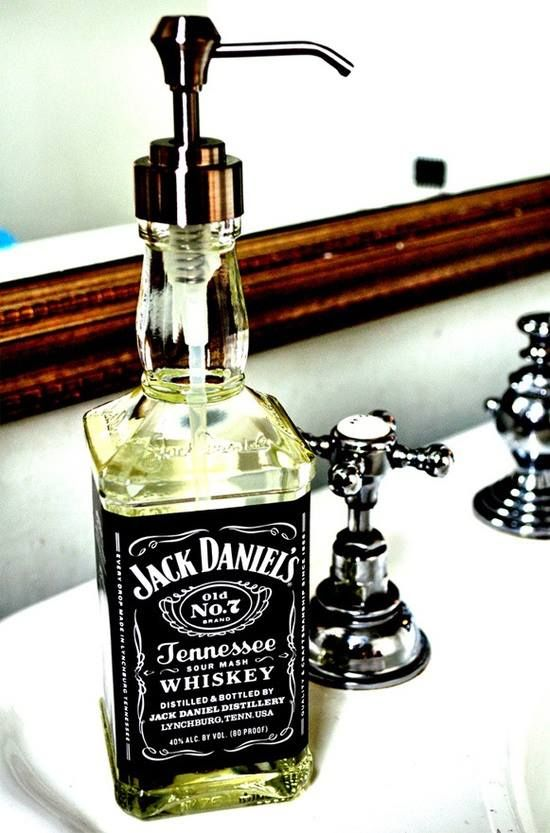 Jack Daniels Soap Dispenser Upcycling